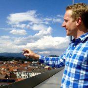 Jochen Kerschenbauer on the rooftop terrace of TU Graz