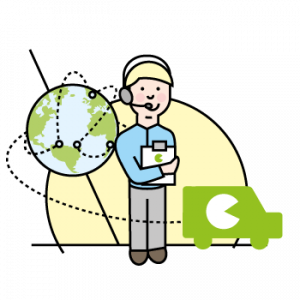 on-site support illustration, feedbackr employee