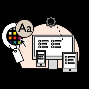Illustration showing customisation of feedbackr