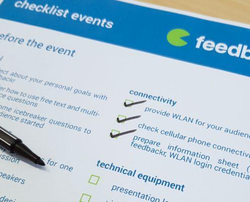 feedbackr events checklist